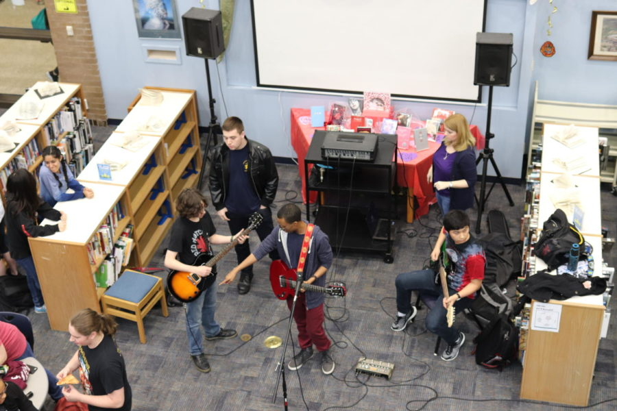 Battle of the Bands during lunch held in the library!