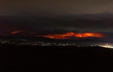 View of the fires from Benicia, California.
